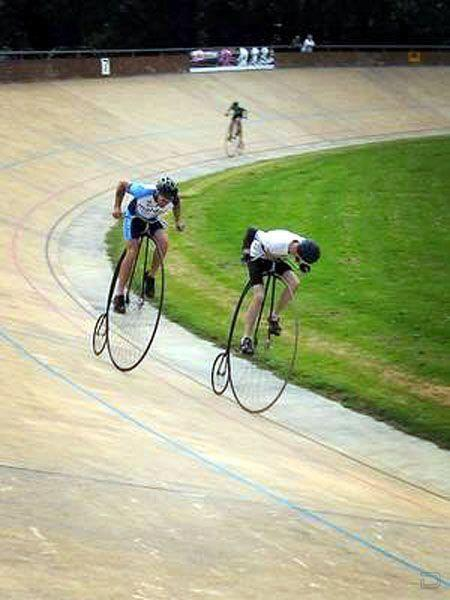 The High-wheeler Penny Farthing is not entirely out of the race. Photo from mashafix.com