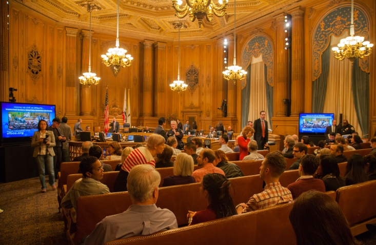City Hall Assembly on January 16, 2013 to reduce pedestrian and cyclist deaths
